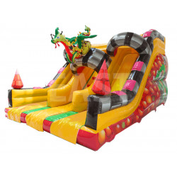 Inflatable Dragon Double Slide