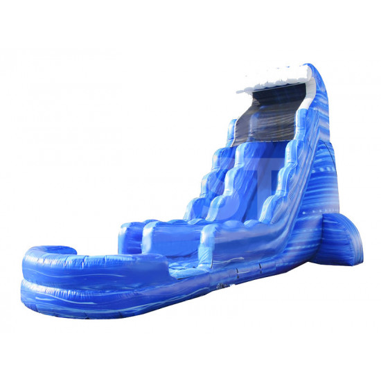 Big Blue Inflatable Water Slide