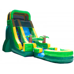 Tropical Inflatable Water Slide