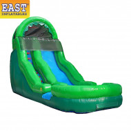 Green Inflatable Water Slide