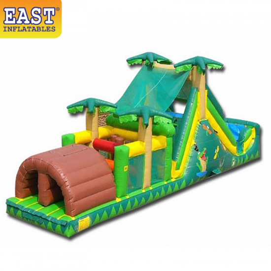 Backyard Tropical Obstacle Course