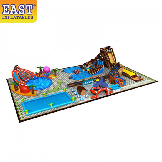 Great Inflatable Water Park Land Amusement Park
