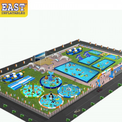 Inflatable Mobile Water Amusement Park