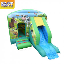 Farm Bouncy Castle Slide