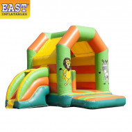 Jungle Inflatable Bouncy Slide