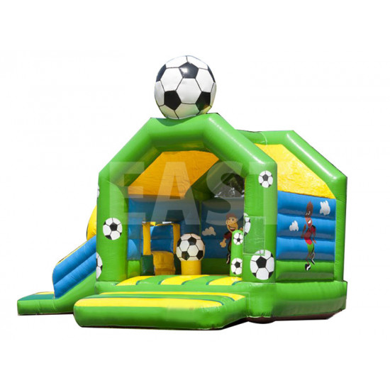 Football Bouncy Castle With Slide
