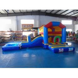 Beach Bouncy Castle With Slide