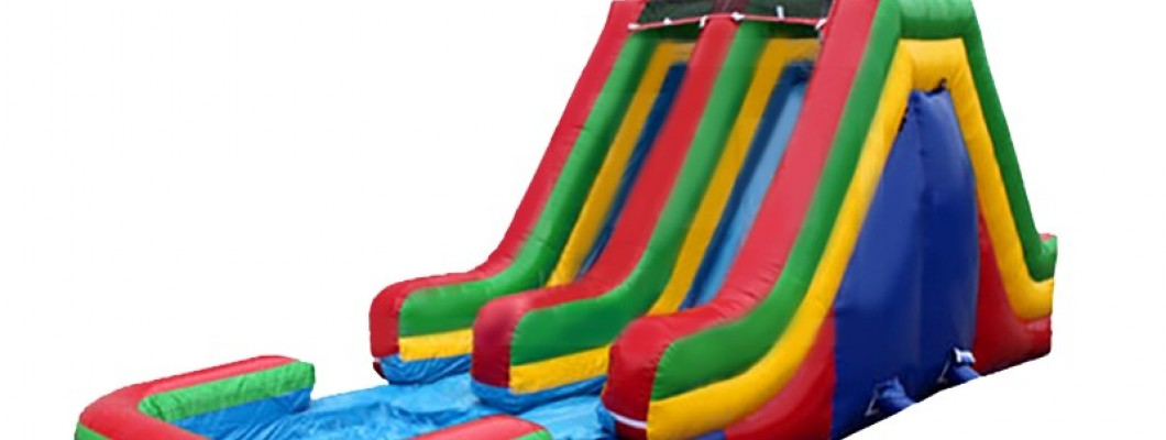 How to repair a hole in an inflatable water slide?